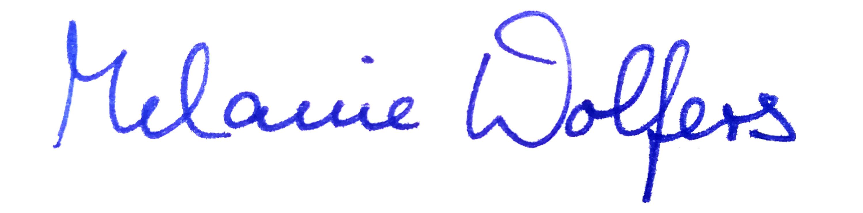 Unterschrift Melanie Wolfers